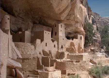 Photographer In The Lens, Bill Birkemeier: Note Card Mesa Verde, Cliff Palace Color