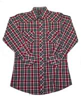 White Horse Men's Western Shirt: Plaid A Red Black M-4XL