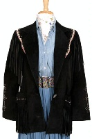 Renegade Spirit Ladies' Suede Blazer: Fringed Western Myth