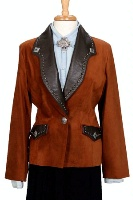 Renegade Spirit Ladies' Suede Blazer: California Bound