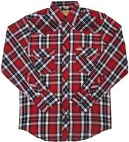 White Horse Men's Vintage Western Shirt: Embroidered Plaid M-2XL