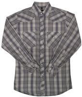 ZSold White Horse Men's Western Shirt: Print Stripe Plaid Grey Brown White SOLD