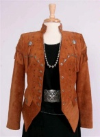 Renegade Spirit Ladies' Suede Jacket: Star Attraction