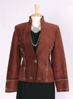 Renegade Spirit Ladies' Suede Jacket: Refined Elegance