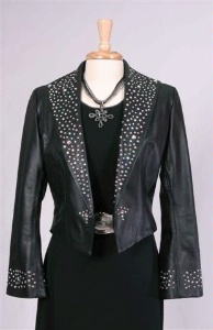 Renegade Spirit Ladies' Leather Jacket: Night Sky