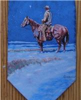 Rockmount Ranch Wear Accessory: Necktie Harold Holden Snow Painting Silk