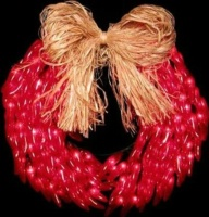 ZSold  Decorative Lighting: Chili Red Pepper Wreath SOLD