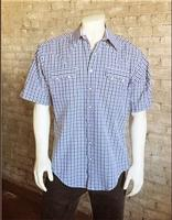 Rockmount Ranch Wear Men's Western Shirt: Check Windowpane Short Sleeves S-XL