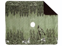 Denali® Rustic Collection: Howling Wolves Reverse Chocolate Throw Blanket