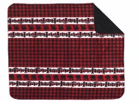 Denali® Rustic Collection: Bear Plaid Border Reverse Black Throw Blanket