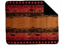 Denali® Western Collection: Roaming Buffalo Reverse Black Throw Blanket