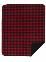 Denali® Rustic Collection: Plaid Buffalo Check Large Bunk House Red Reverse Black Throw Blanket