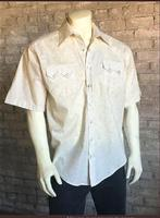 Rockmount Ranch Wear Men's Western Shirt: Print Floral Tan Short Sleeves S-XL