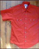 Rockmount Ranch Wear Men's Western Shirt: Solid Red Short Sleeves S-XL