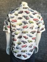Rockmount Ranch Wear Men's Western Shirt: Print Short Sleeve Cars 2X Backordered