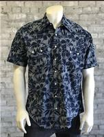 B Rockmount Ranch Wear Men's Western Shirt: Print Short Sleeves Floral Backordered