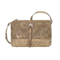 A American West Handbag Dove Canyon Collection: Leather Crossbody Sand
