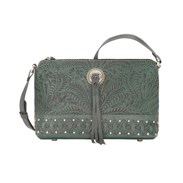 A American West Handbag Dove Canyon Collection: Leather Crossbody Turquoise