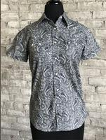 Rockmount Ranch Wear Ladies' Western Shirt: Short Sleeves Paisley Blue S-XL