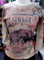 ZSold Cactus Designs: All American Cowgirl S-XL SOLD