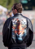 ZSold Imaged Leather: Aviator Jacket Tiger Sold