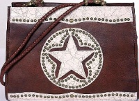 A Scully Leather Shoulder Bag: Divided Compartment Lone Star SALE
