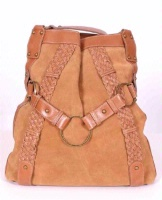 ZSold Scully Suede Shoulder Bag: Feed Bag Tan SOLD