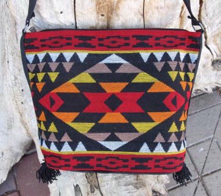 Southwestern Design handbag collection acrylic: southwest design with center cross and