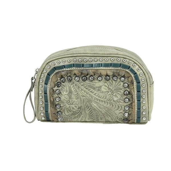 A American West Handbag Blue Ridge Collection: Leather Cosmetic Case Sand