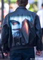 Imaged Leather: AviatorJacket Face Of Freedom S-2XL