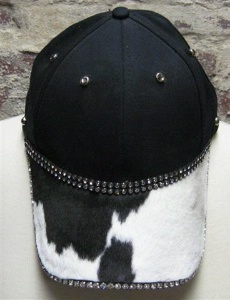 Pat Dahnke Signature Collection Chic Cap: Bling Cap Black and White Pony Print Special Order