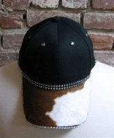 Pat Dahnke Signature Collection Chic Cap: Bling Cap Brown and White Pony Print Special Order