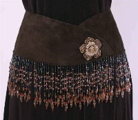 Pat Dahnke Signature Collection Chic Belt: Reversible Wrap Hipster Mocha