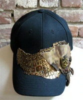 ZSold Pat Dahnke Chic Cap: Cap with Reptile Print SOLD