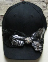 ZSold Pat Dahnke Chic Cap: Cap with Silver Print SOLD
