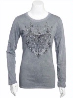 Jack Flash Tees: Western Butterfly LS, 3/4 Sleeve S-2XL