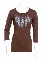 Jack Flash Tees: A LS or 3/4 Sleeve, Necklace of Feathers S-XXL