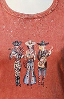 Jack Flash Tees: Cowgirls Dixie Band SS, Tank S-2XL