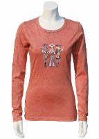 Jack Flash Tees: Cowgirls Dixie Band LS, 3/4 Sleeve S-2XL