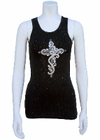 Jack Flash Tees: Cross Jeweled SS, Tank S-2XL