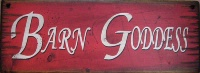 Wall Sign Barn: Barn Goddess