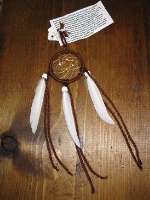ZSold Cherokee Rebecca Wood: SOLD 2in Small Dream Catcher Brown SOLD