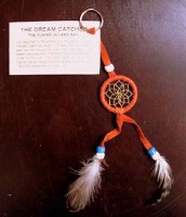 ZSold Navajo Dream Catcher: Key Ring or Key Chain Orange SOLD