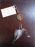 Zsold Navajo Dream Catcher: Key Ring or Key Chain Tan SOLD