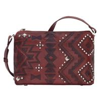 A American West Handbag Nomad Heart Collection: Leather Zip Top Crossbody Crimson