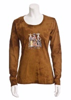 Jack Flash Tees: Cowgirls Trio LS, 3/4 Sleeve S-2XL