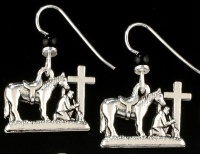 ZSold Praying Cowboy Collection: Charm on Earrings SOLD