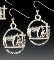 Praying Cowboy Collection: Lasso Earrings