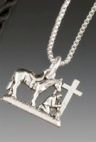 Praying Cowboy Collection: Charm on Chain 18 Inch