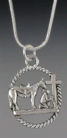Praying Cowboy Collection: Lasso on Chain 18 Inch